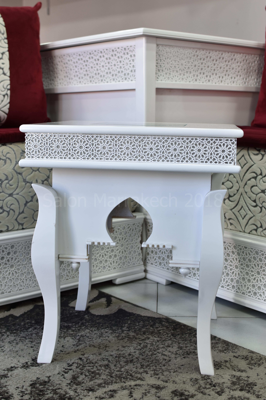 salon marocain Saphir blanc
