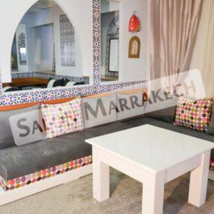 Salon Marocain Capitonné Gris sur Mesure - Salon Marocain ...