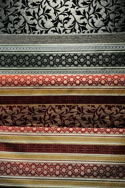 les tissus des salons marocains