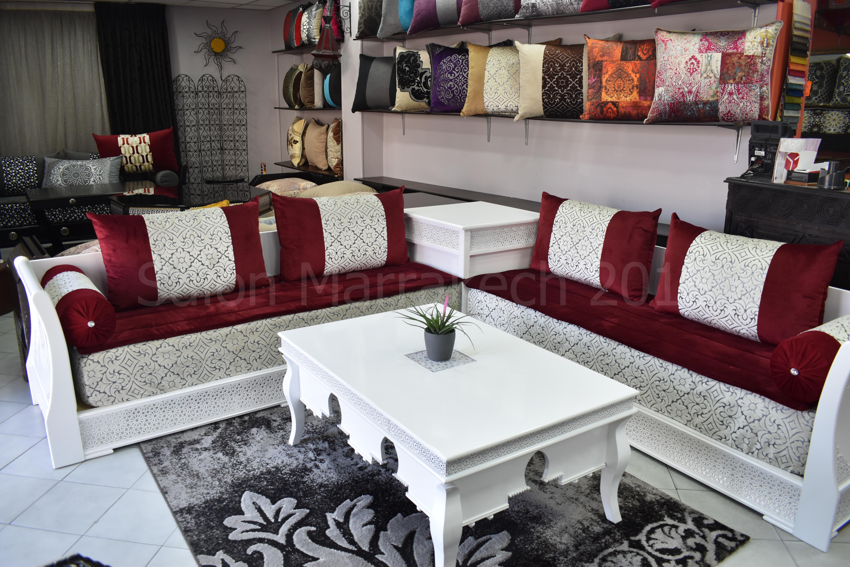 Attrayant Salon Marocain Saphir Blanc